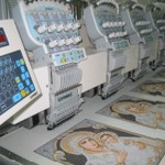 Embroidery machines with special functions