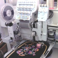 Cording, coiling, swing and embroidery machines