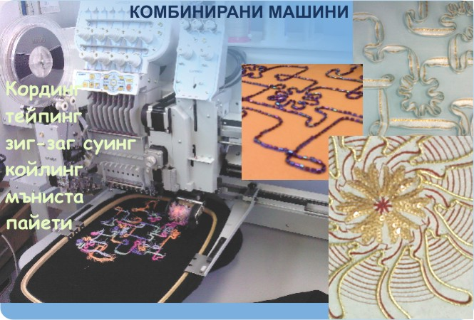Cordin Coiling Swing embroidery machines